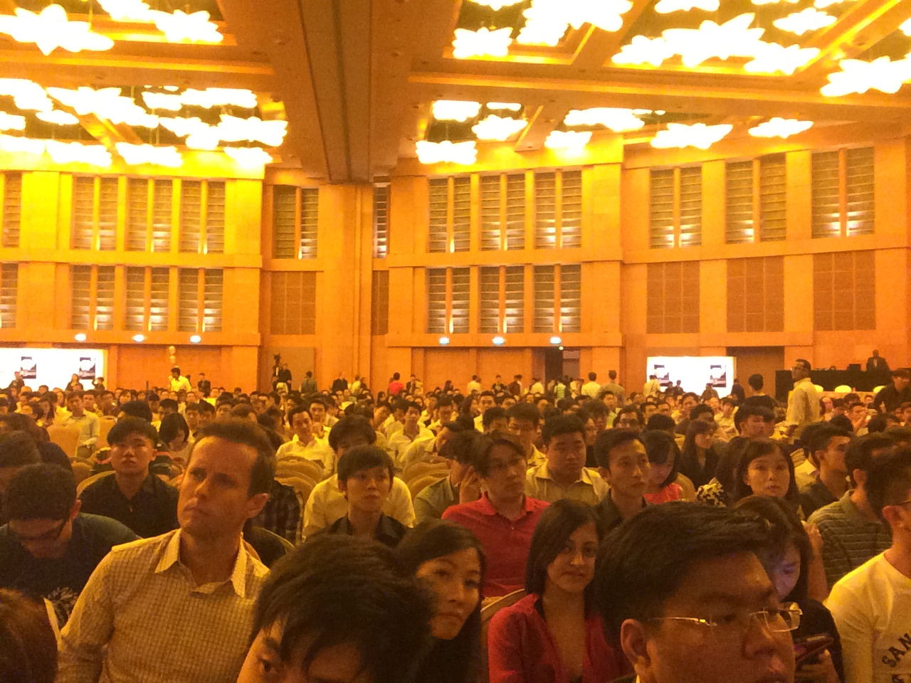 What a huge crowd at RWS!