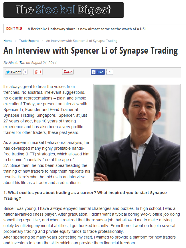 Media Feature | An Interview with the Stockal Digest