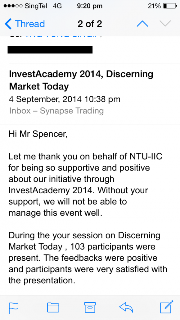 Guest Speaker at NTU | A Big Thanks to All 103 Participants!