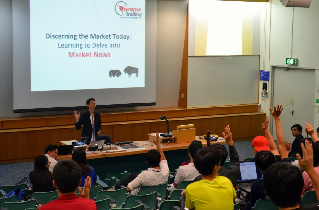 Guest Speaker at NTU | First-time Traders, Please Raise your Hands!