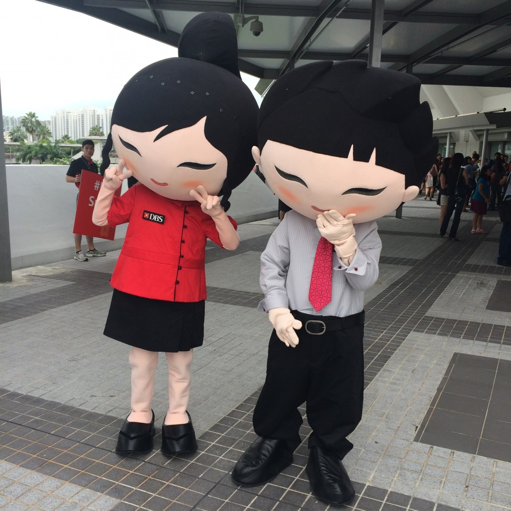 DBS Mascots - Guess who the main sponsor is?
