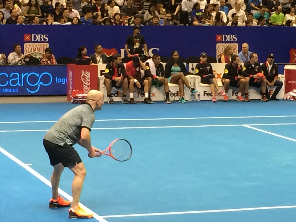Andre Agassi - The Return Specialist!