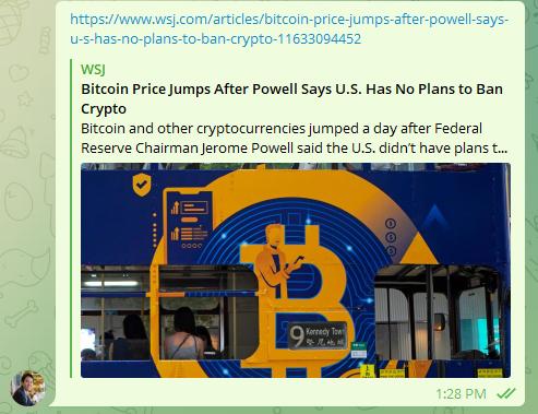 Bitcoin BTCUSD 081021 1